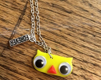 Forever necklace yellow owl