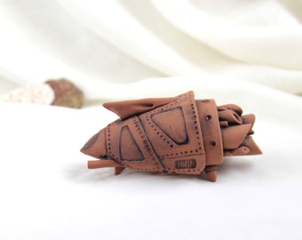 OOAK Ceramic terracotta spaceship -- Hand Made Ceramic Eco-Friendly Home Decor by studio Vishnya