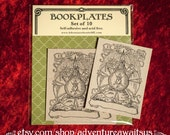 Alchemist Bookplate - book reader writer librarian student bibliophile gift magician fantasy alchemy celestial moon sun stars ex libris