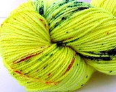 Lemon Kamikaze - Speckled - Hand Dyed Merino and Nylon Sock Yarn - Entree
