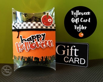 Kits Vampire Pumpkin Gift Card Holder / Party Favors / Teacher Appreciation / Employee Gifts / You've Been Booed /Pillow Box /