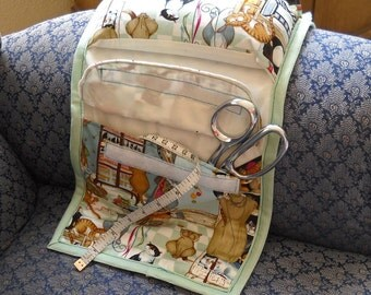 Sewing Cats Armchair Sewing Caddy Hand Sewing Organizer