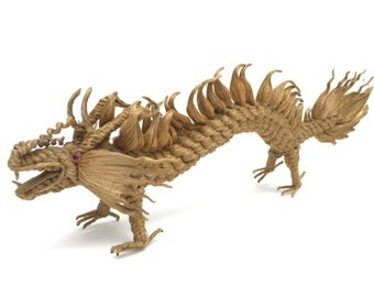 Vintage Dragon Sculpture~ Woven Rope Art~ Year of the Dragon~ Chinese art