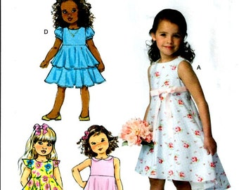 GIRLS CLOTHES PATTERN / Make Child - Girl Fancy Special Occasion Dress or Sundress  / Sizes 2 to 5 Or 6 to 8