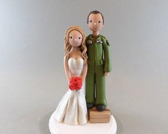 Cake Topper Custom Handmade Bride & Groom Wedding