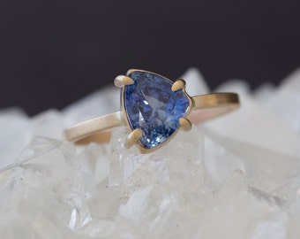 One of a Kind Natural Blue Sapphire Ring