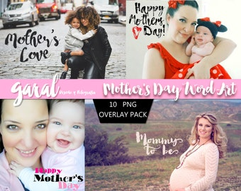 Mother's Day Wordart Photoshop Overlays, Photoshop Overlay, Mothers day,  Word art, PNG, quotes, Mom, Die cuts