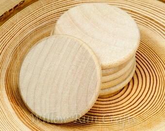 50 pcs 1.25 inch Wood Circle Discs  (23-20-160)