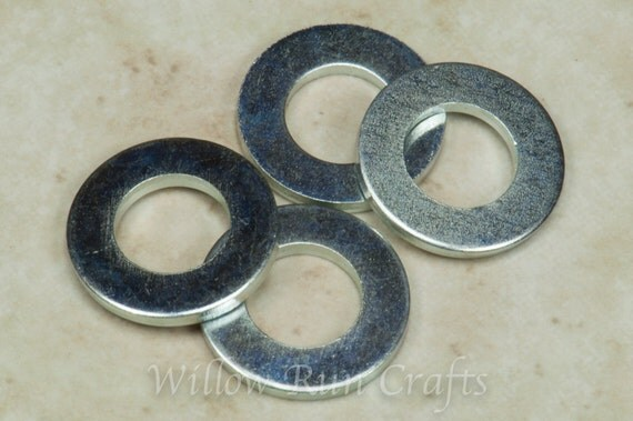 200 Silver Colored 8mm Washers for your bottle cap necklaces  (07-04-120)