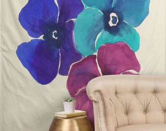 Tapestries - Jewel Tone Pansies