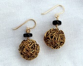 Gold Wire Ball Earrings...