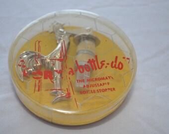 Vintage CORK a BOTTLE DO bottle stopper 1950's barware man cave on sale!