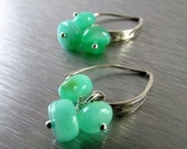 BIGGEST SALE EVER Green Chrysoprase and Sterling Silver Earrings
