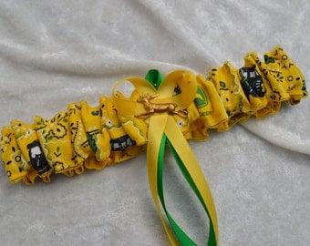 Handmade wedding garter toss JOHN DEERE  wedding garter