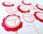 American Girl Birthday, Cupcake Toppers, Birthday Party, Customized