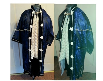 Child's youth wisemen magi king nativity costume OOAK Christmas pageant Nativity Biblical play blue silver