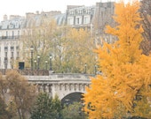Autumn, Feeling Fall in Paris, Paris Photography, Place Dauphine, Fall leaves in Paris, Paris Decor, Fall Photography, Yellow, Autumn Leaves