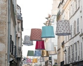 Paris Photography, Lanterns on Rue de Seine, left bank Paris, soft blue and grey tones,  French Decor, Paris Wall Art, Parisian Street