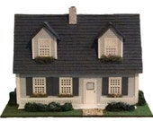 NEW Complete Quarter Inch Scale Three Qtr Cape Cod House Kit