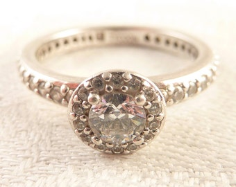 Vintage Size 10 Tycoon Cubic Zirconia Sterling Ring