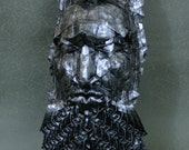 Menelaus - Origami sculpture with a look of hammered metal