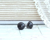 Black Pearl Studs Pearl Post Earrings 8mm Studs Black Pearl Earrings Surgical Steel Studs Black Stud Earrings