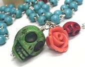 Rosary - Dia de los Muertos / Day of the Dead style