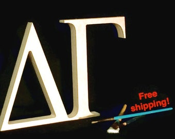 """2 16""""x 1'' thick Greek Letters Unfinished Wood! Pi, Theta, Rho, Sigm, Tau 15.00 ea. FREE SHIPPING Connected Letters 105"""