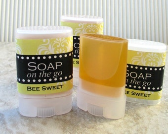 Bee Sweet Travel Soap, Twist up tube, warm sweet scent