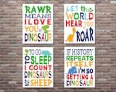 Dinosaur Wall Art,Dinosaur Decor, Dinosaur Set,INSTANT DOWNLOAD,Dinosaur Art,Boys Nursery Decor,Boys Room Wall Art,Baby Boy Nursery Art