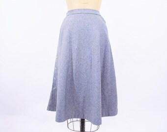 1970s skirt - wool blend skirt - 70s vintage skirt - gray skirt XS
