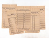 12 x Vintage Tram Ticket Forms Australia for Altered Arts Mixed Media Collage Destash 1950s