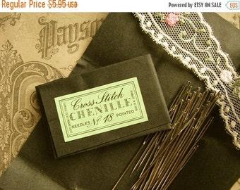 BIG SALE Antique German Embroidery Needles N0#18 Pointed Western Germany