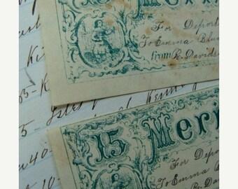 ONSALE Antique 1800s Gorgeous Victorian Reward of Merit Card Lot