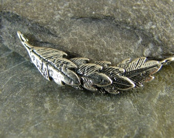 Leafy Swag Link - Sterling Silver Leaf Link - One Piece - lls