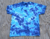 Great Barrier Reef Scrunch Tie Dye T-shirt (Gildan Heavy Cotton Size L)(One of a Kind)