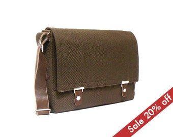 "11"" / 13"" MacBook Air messenger bag - chocolate brown"