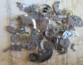 Vintage WATCH PARTS gears - Steampunk parts - u9 Listing is for all the watch parts seen in photos