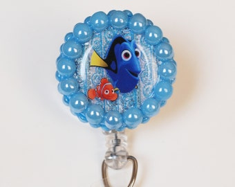 Finding Dory's Nemo And Dory ID Badge Reel - Retractable ID Badge Holders - Zipperedheart