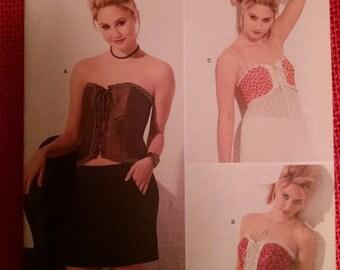 Simplicity 2355 misses corset pattern three styles