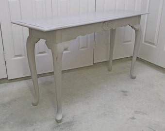 Console Sofa Table, Distressed Gray Cottage Style - TB602 Shabby Chippy Farmhouse Chic