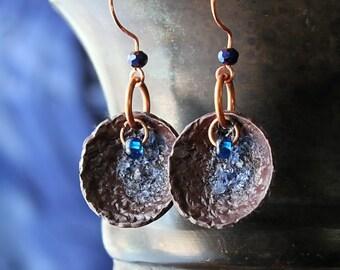 Small Tribal Earrings, Gypsy Tribal Earrings, Ethnic Earrings, Hippie Earrings, Rustic Earrings, Boho Rustic Jewelry