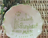 I Kissed a Dog Customized and Personalized  Stoneware Bowls 37 Breeds Available Free Shipping