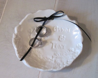 Personalized Wedding Bowl Ringbearer Dish
