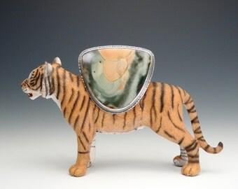 Morrisonite Jasper Ring, Statement Ring, Sterling Silver Ring, Oxidized, Handmade