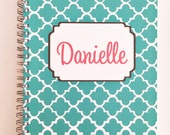 Personalized Planner, undated planner, travel planner, choose colors and more