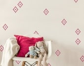 Small Decals, Aztec Diamonds- 30 Graphics, Vinyl Wall Graphics, Sticker, Wallpaper- item 10045