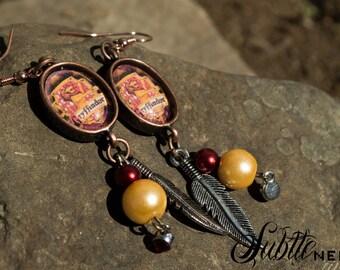 House Earrings based on Harry Potter