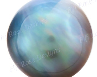 19mm 18ct Blue Grey Mabe South Sea Loose Pearl