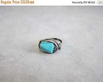 ON SALE Clearance Sale...Blue Turquoise and Sterling Silver Ring